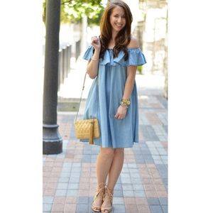 NWOT Chicwish soft-touched denim dress
